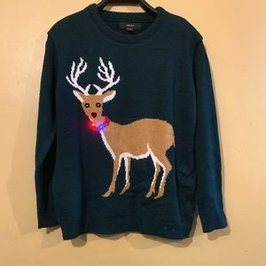 Ugly Christmas Light Up Men's Sweater Size Large